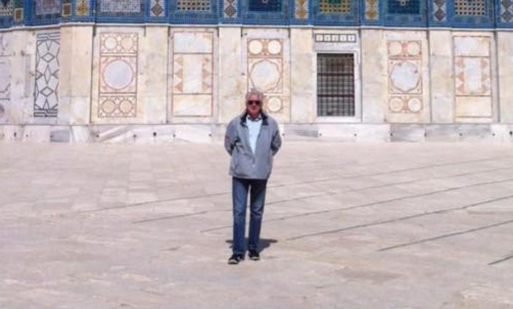 Jean-Claude Lefort, sur le Mont du Temple, dans la capitale d'Israël