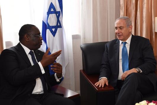 Netanyahu et Sall ©Twitter/Netanyahu